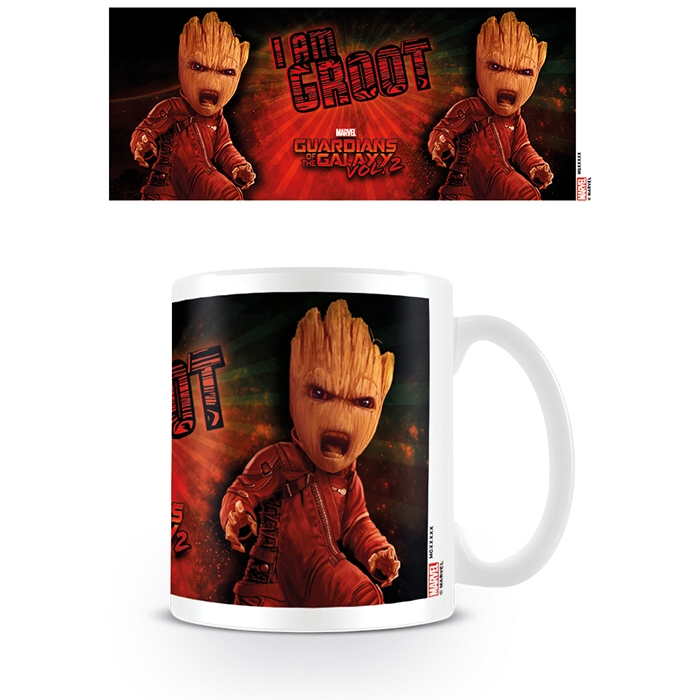 Marvel Boxed Mug Guardians Vol 2 Angry Groot Sparkle Gift