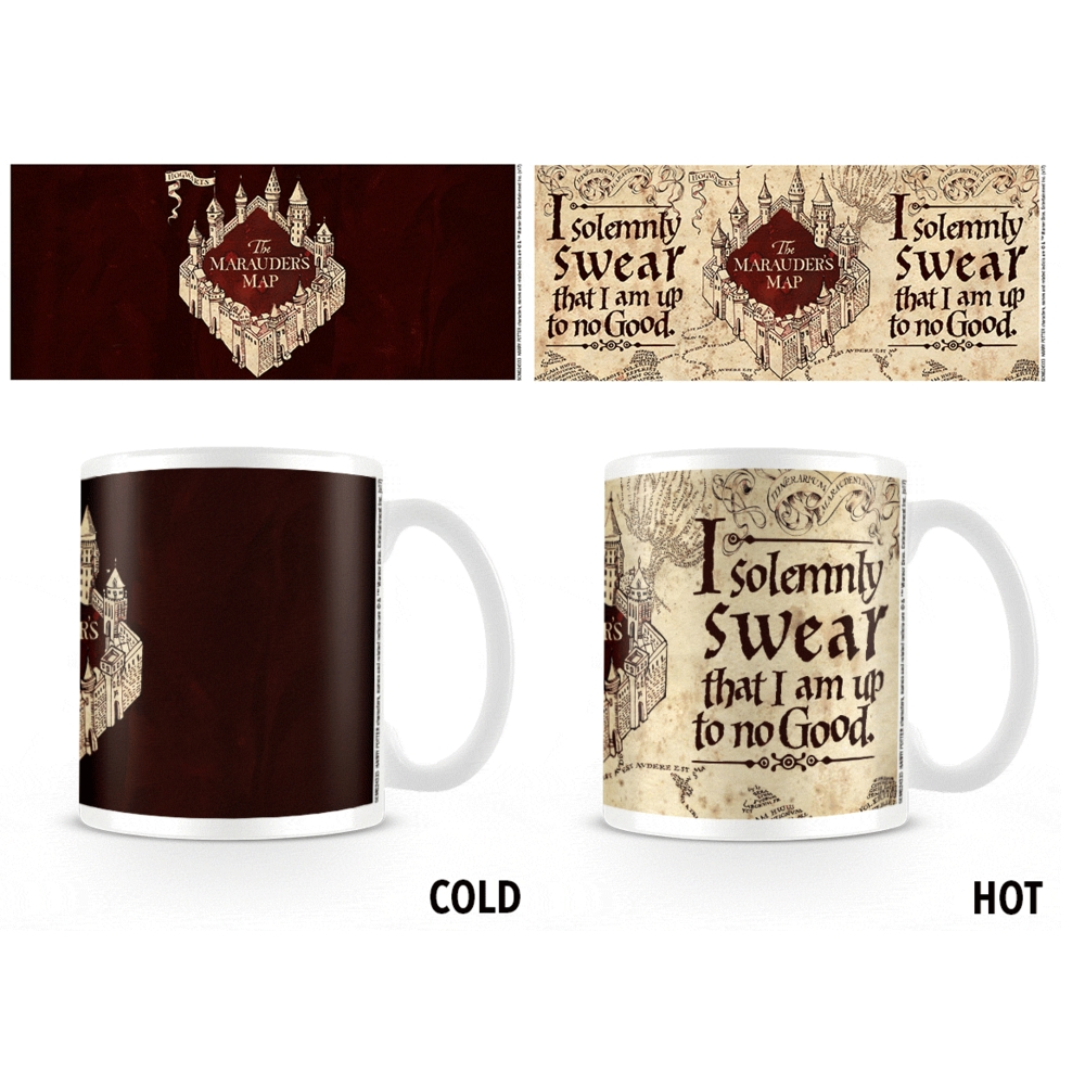 Harry Potter Heat Change Mug Marauders Map Sparkle Gift