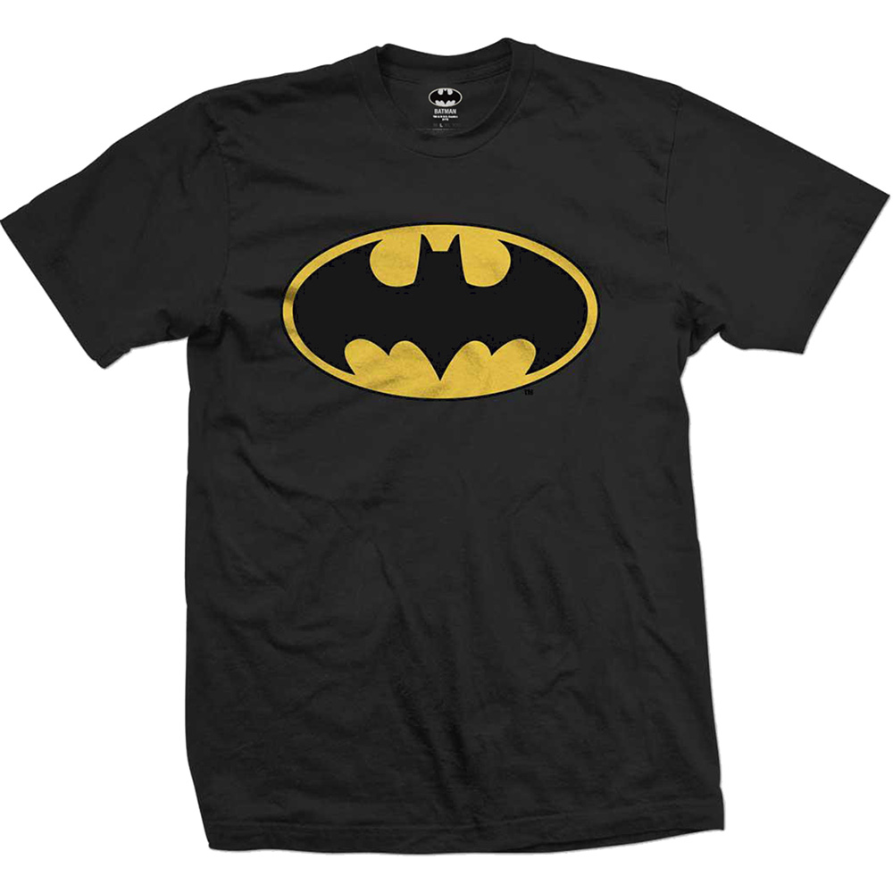 Batman T Shirt Logo Mens Large Sparkle Gift