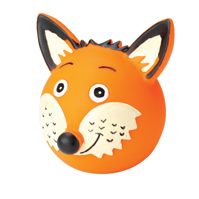 House of Paws Woodland Vinyl Ball Fox Sparkle Gift