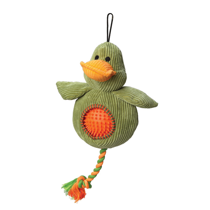 House of Paws Duck Cord Toy With Spiky Ball Sparkle Gift