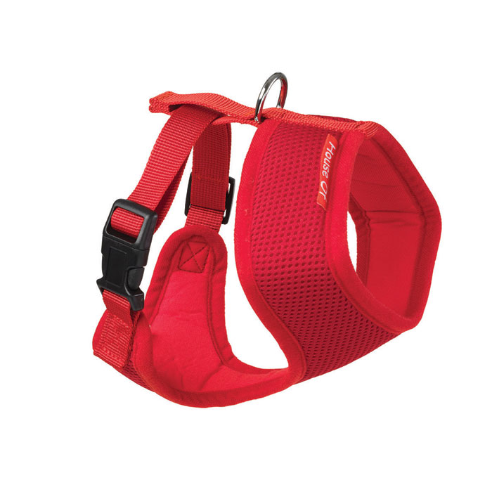 House of Paws Memory Soft Harness Red M Sparkle Gift