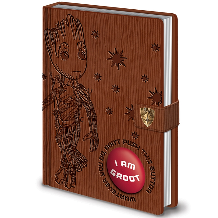 Marvel official Audio Premium A5 Notebook Groot Sparkle Gift