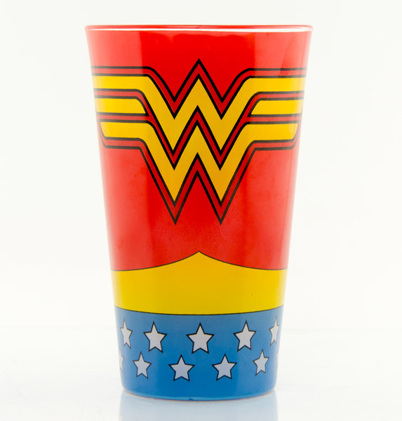 Wonder Woman Large Glass Costume Sparkle Gift