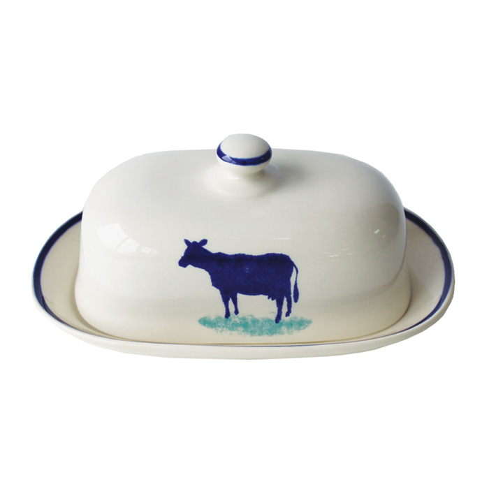 Dorset Delft Butter Dish Cow Pack of 1 Sparkle Gift