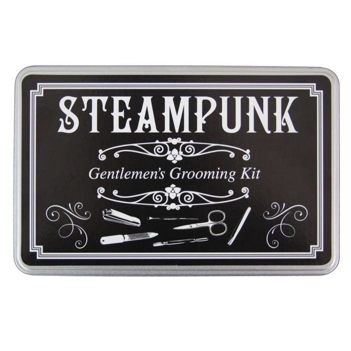 Steampunk Gentlemens Grooming Kit In A Tin Sparkle Gift