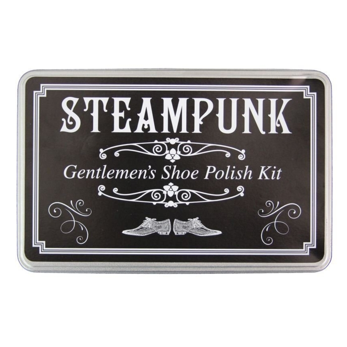 Steampunk Gentlemens Shoe Polish Set In A Tin Sparkle Gift