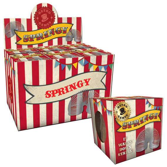 Vintage Red Springy In A Box Sparkle Gift