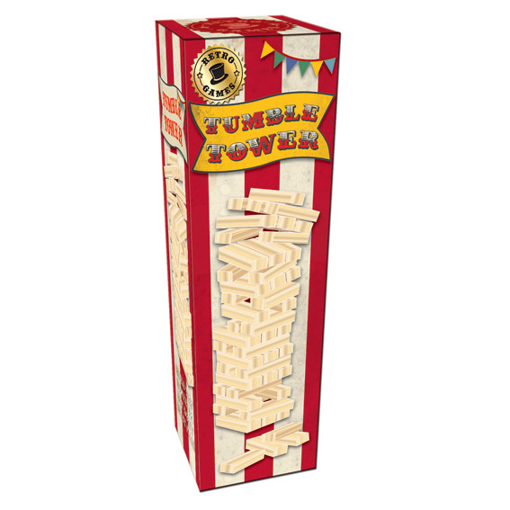 Vintage Red Tumble Tower In A Box Sparkle Gift