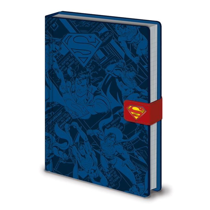 Superman Premium A5 Notebook Montage Sparkle Gift