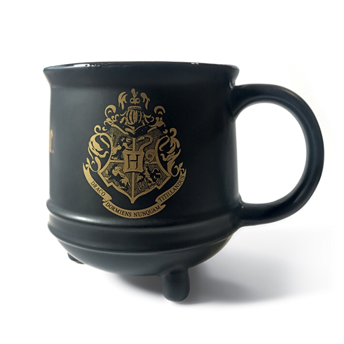 Harry Potter Shaped Mug Hogwarts Crest Sparkle Gift