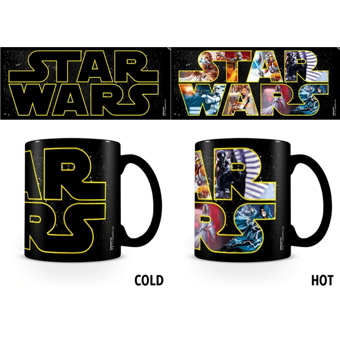 Star Wars Heat Change Mug Logo Characters Jan 18 Sparkle Gift
