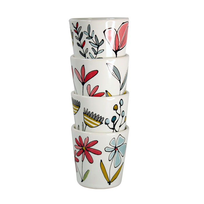 Gallery Thea Floral Egg Cups Set of 4 Sparkle Gift