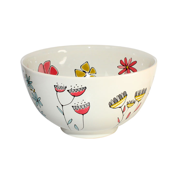 Gallery Thea Floral Large Bowl 22cm Sparkle Gift