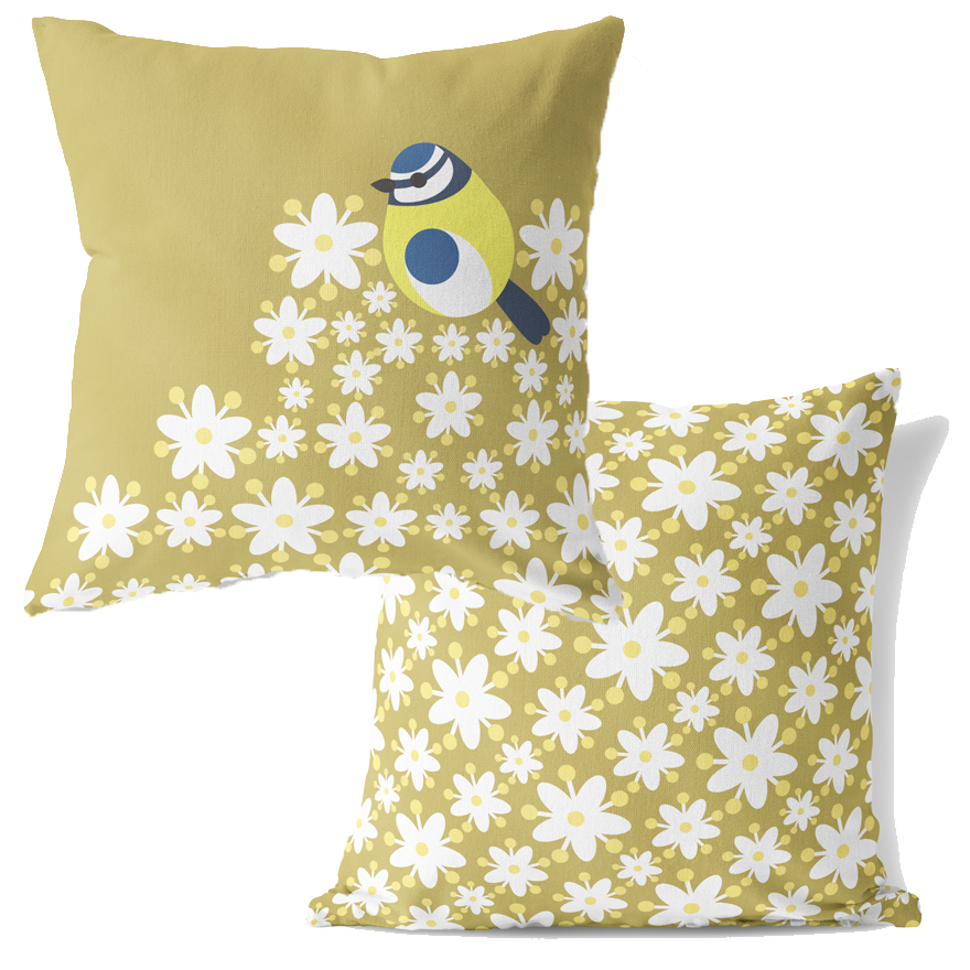 I Like Birds Cushion Blue Tit                                Sparkle Gift
