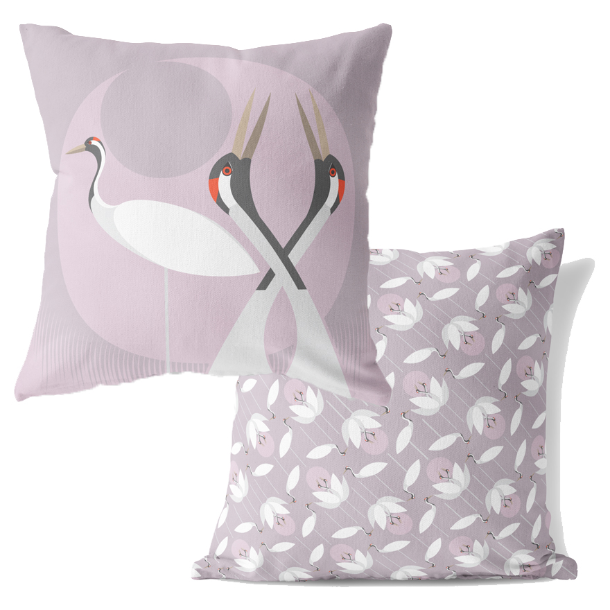 I Like Birds Cushion Crane                                   Sparkle Gift
