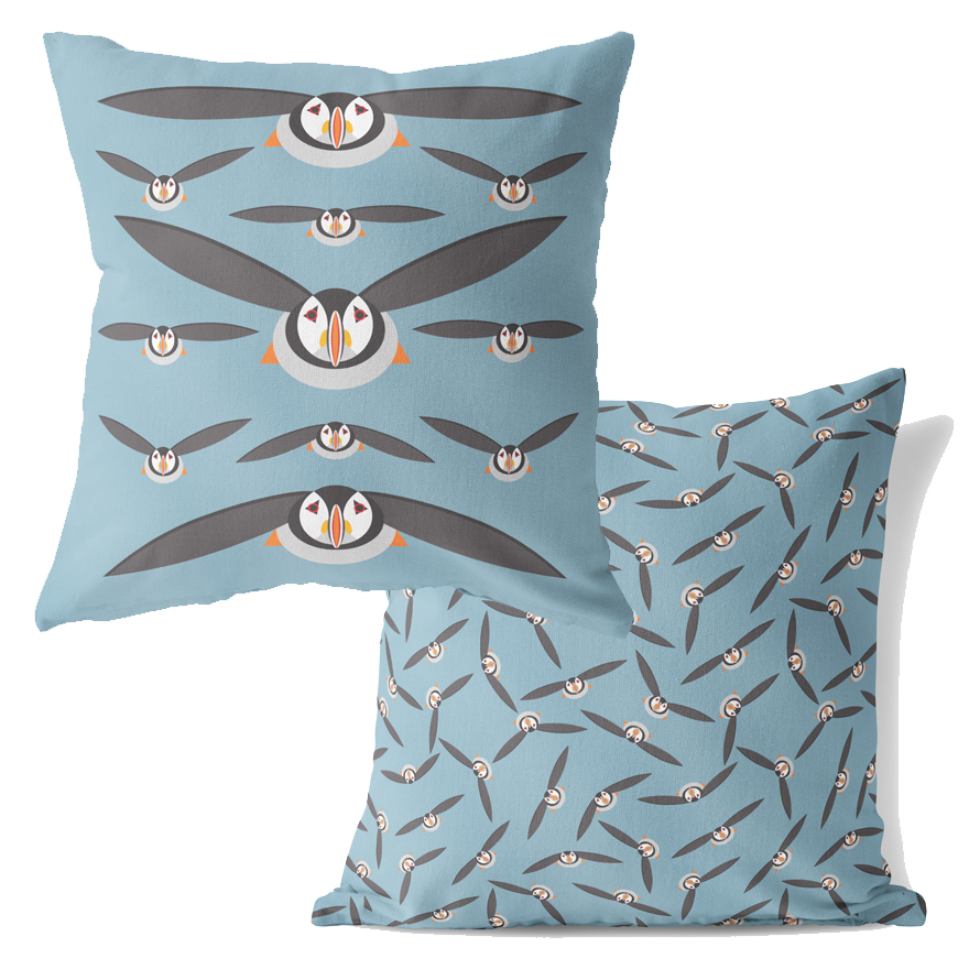 I Like Birds Cushion Puffin                                  Sparkle Gift