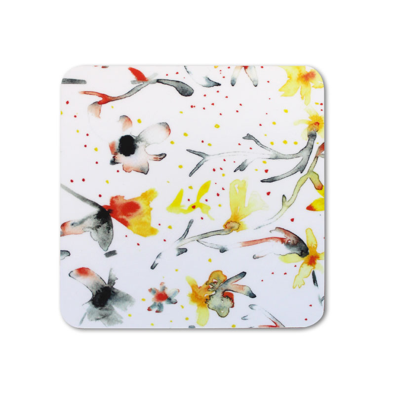 Meg Hawkins Coaster Mixed Petals White Sparkle Gift