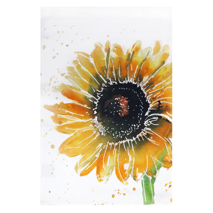 Meg Hawkins Tea Towel Sunflower Sparkle Gift
