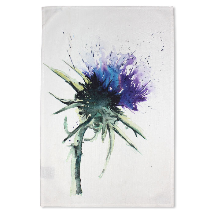 Meg Hawkins Tea Towel Thistle Sparkle Gift