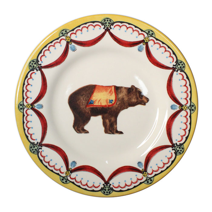 Royal Stafford Circus Wonders Side Plate Bear Pk 6 Sparkle Gift