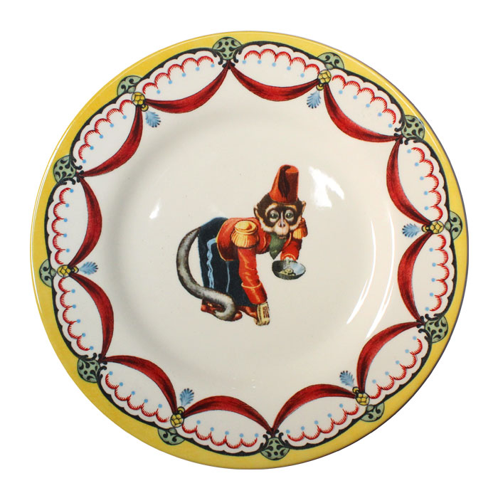 Royal Stafford Circus Wonders Side Plate Monkey X6 Sparkle Gift