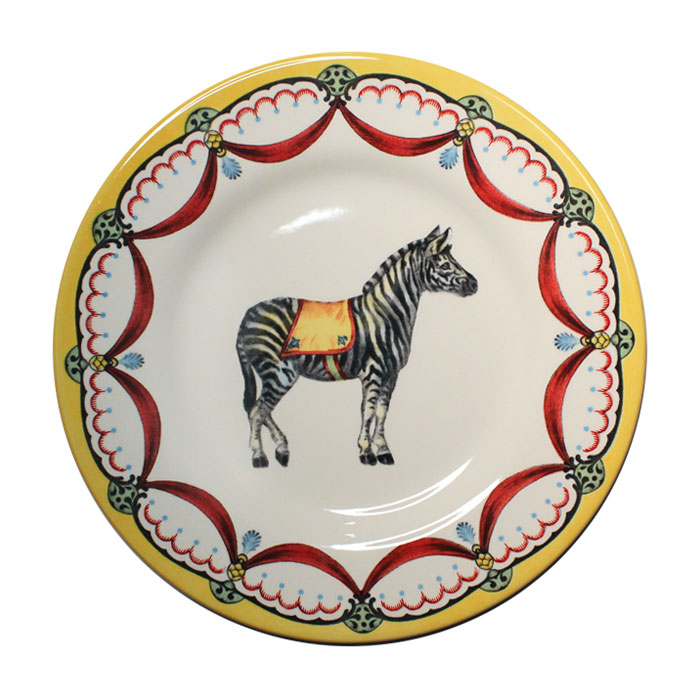 Royal Stafford Circus Wonders Side Plate Zebra X 6 Sparkle Gift