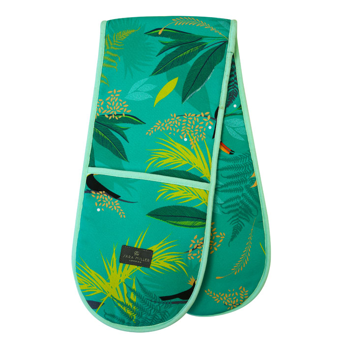 Sara Miller Double Oven Glove Toucan Repeat Sparkle Gift