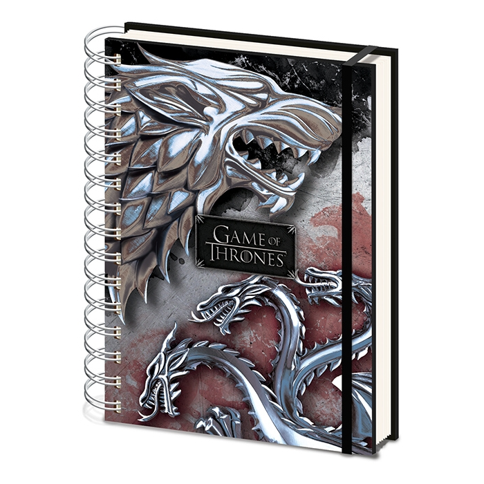 Game of Thrones A5 Notebook Stark & Targaryen                Sprakle Gifts