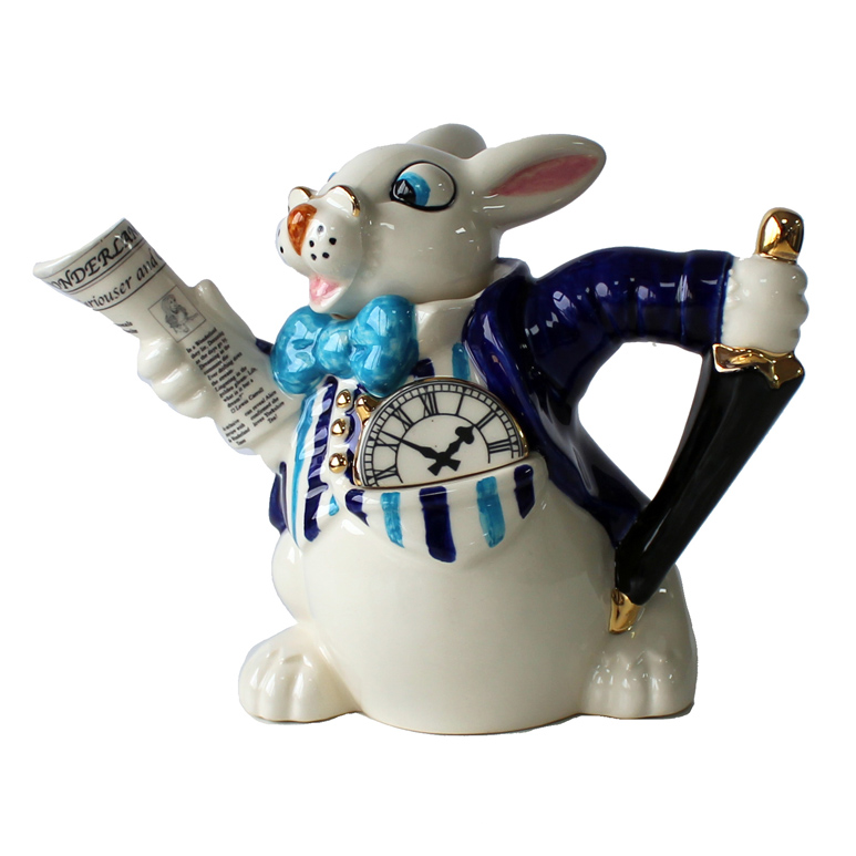 Teapot White Rabbit 2 Cup Sparkle Gift