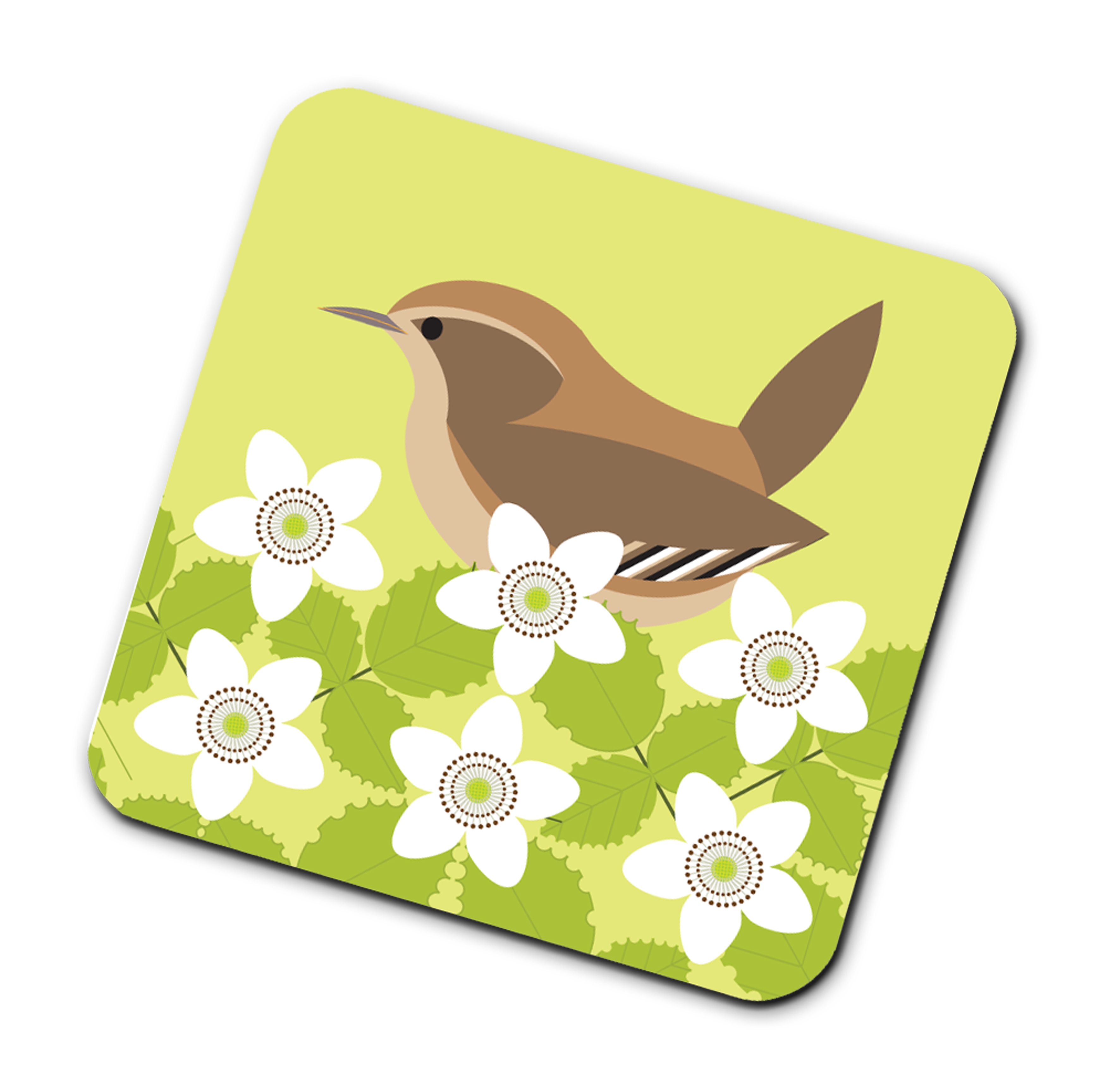 I Like Birds Coasters Wren Sparkle Gift