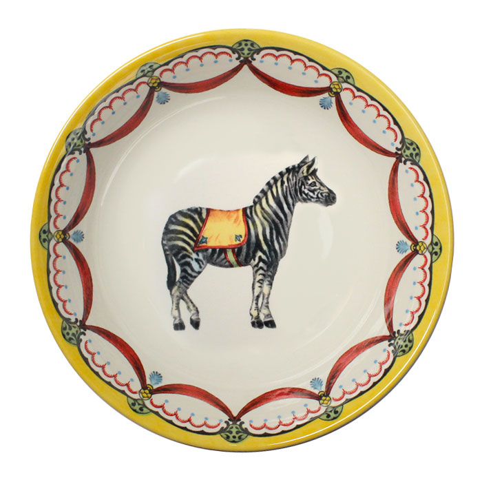 Royal Stafford Circus Wonders Cereal Bowl Zebra X6 Sparkle Gift