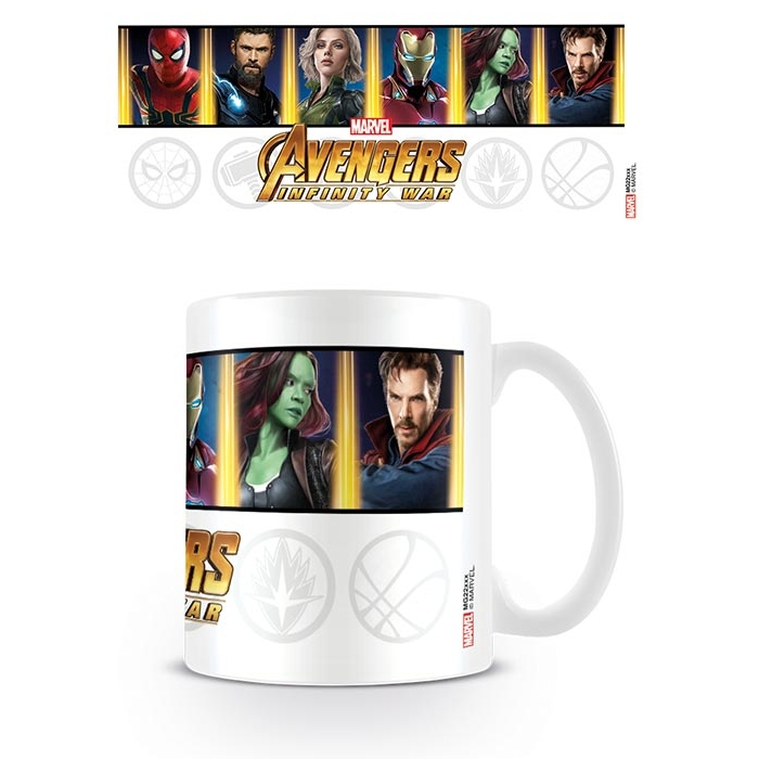 Marvel Boxed Mug Infinity War Characters & Emblems           Sparkle Gift