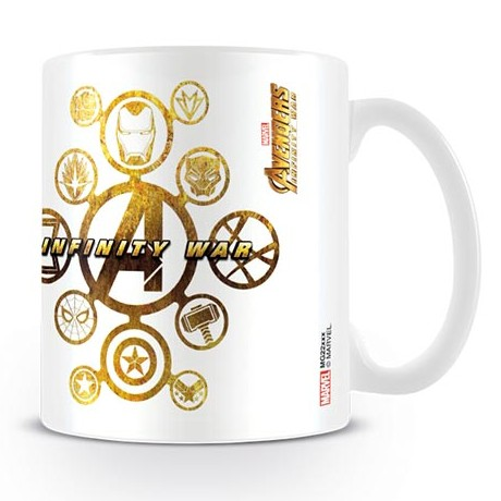 Marvel Boxed Mug Infinity War Connected Icons Sparkle Gift