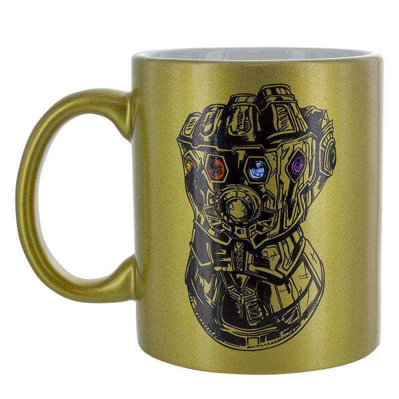 Marvel Boxed Mug Avengers Infinity War Gold Sparkle Gift