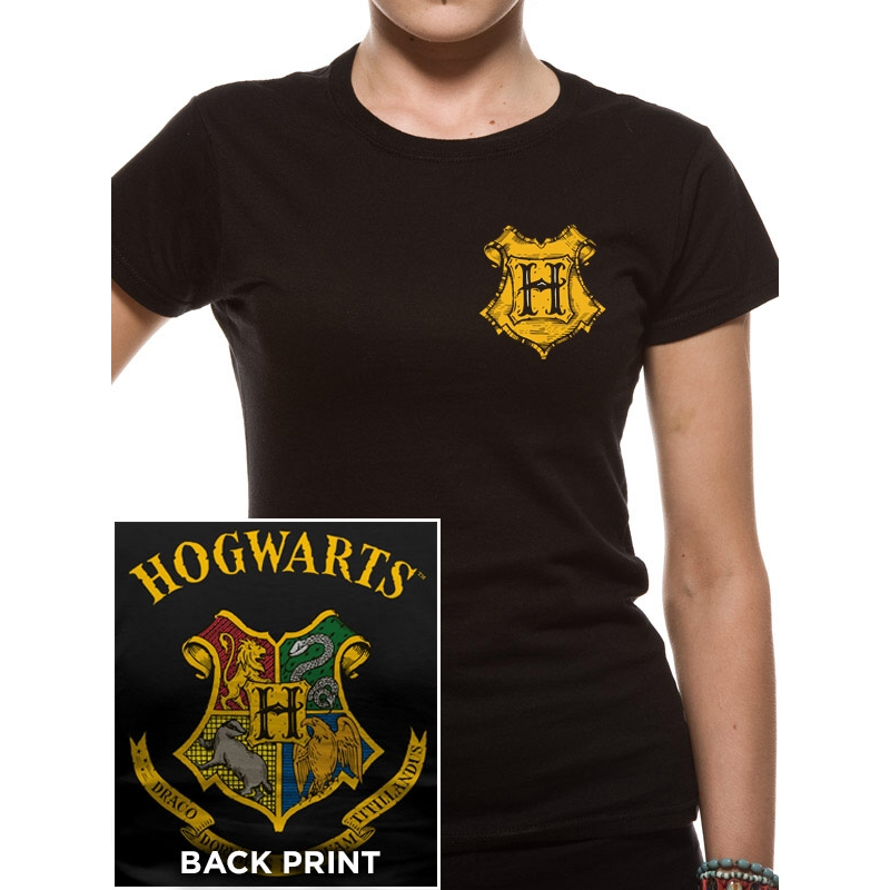Harry Potter T Shirt Colour Crest Womens Small Sparkle Gift