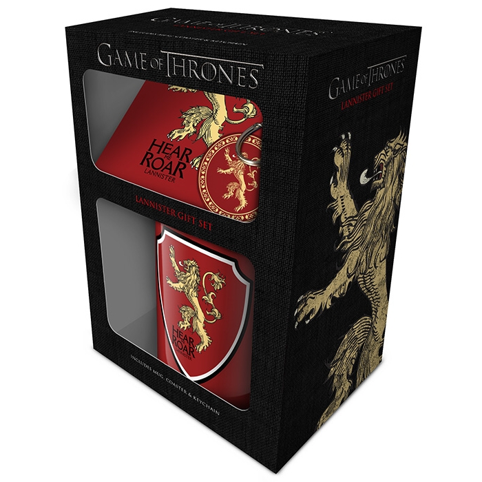 Game of Thrones Mug, Coaster & Keyring Lannister Sparkle Gift