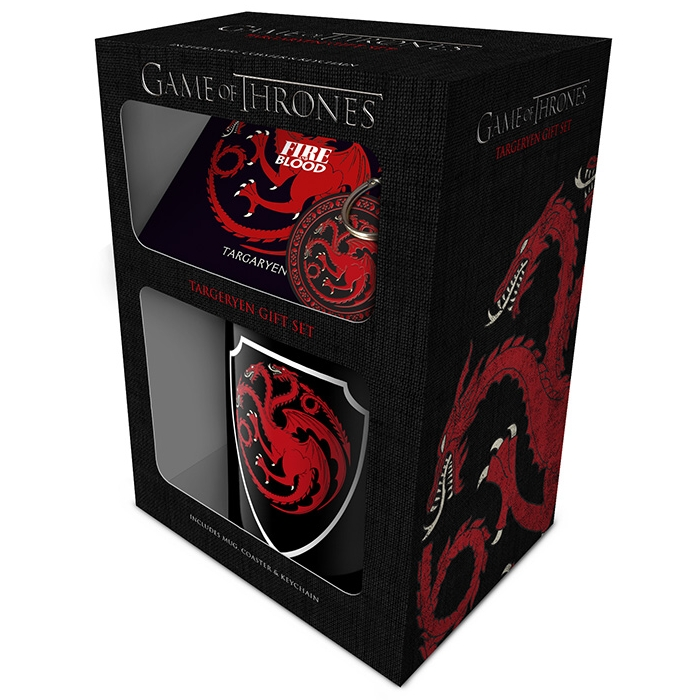 Game of Thrones Mug, Coaster & Keyring Targaryen Sparkle Gift