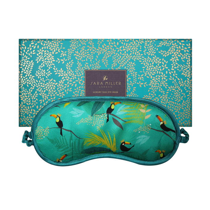 Sara Miller Silk Eye Mask Toucan Sparkle Gift