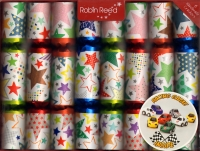 Party Crackers (8) Jolly Stars 25cm Sparkle Gift
