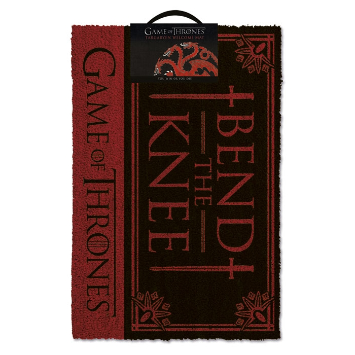 Game of Thrones Doormat Bend The Knee Sparkle Gift
