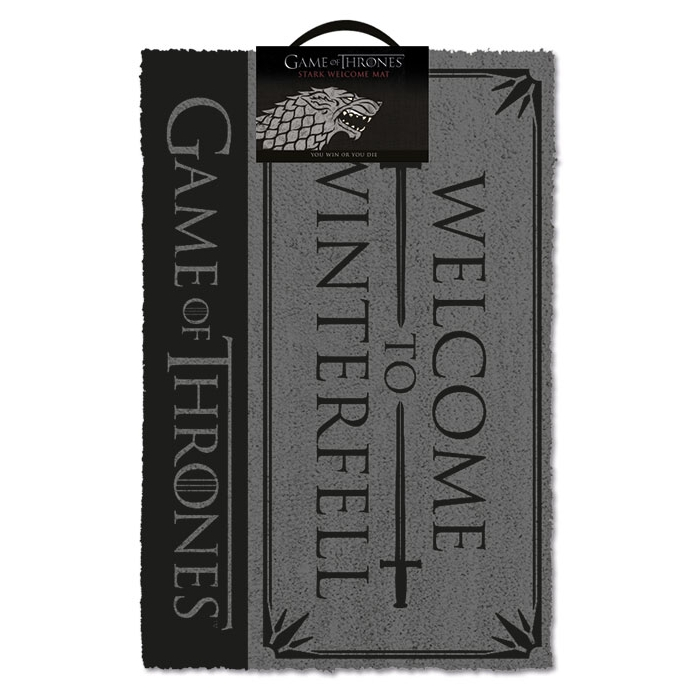 Game of Thrones Doormat Welcome To Winterfell Sparkle Gift