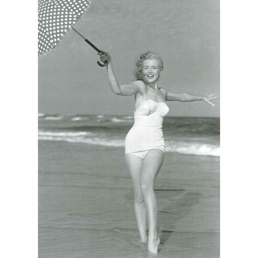 Greetings Card Marilyn Monroe On The Beach Sparkle Gift