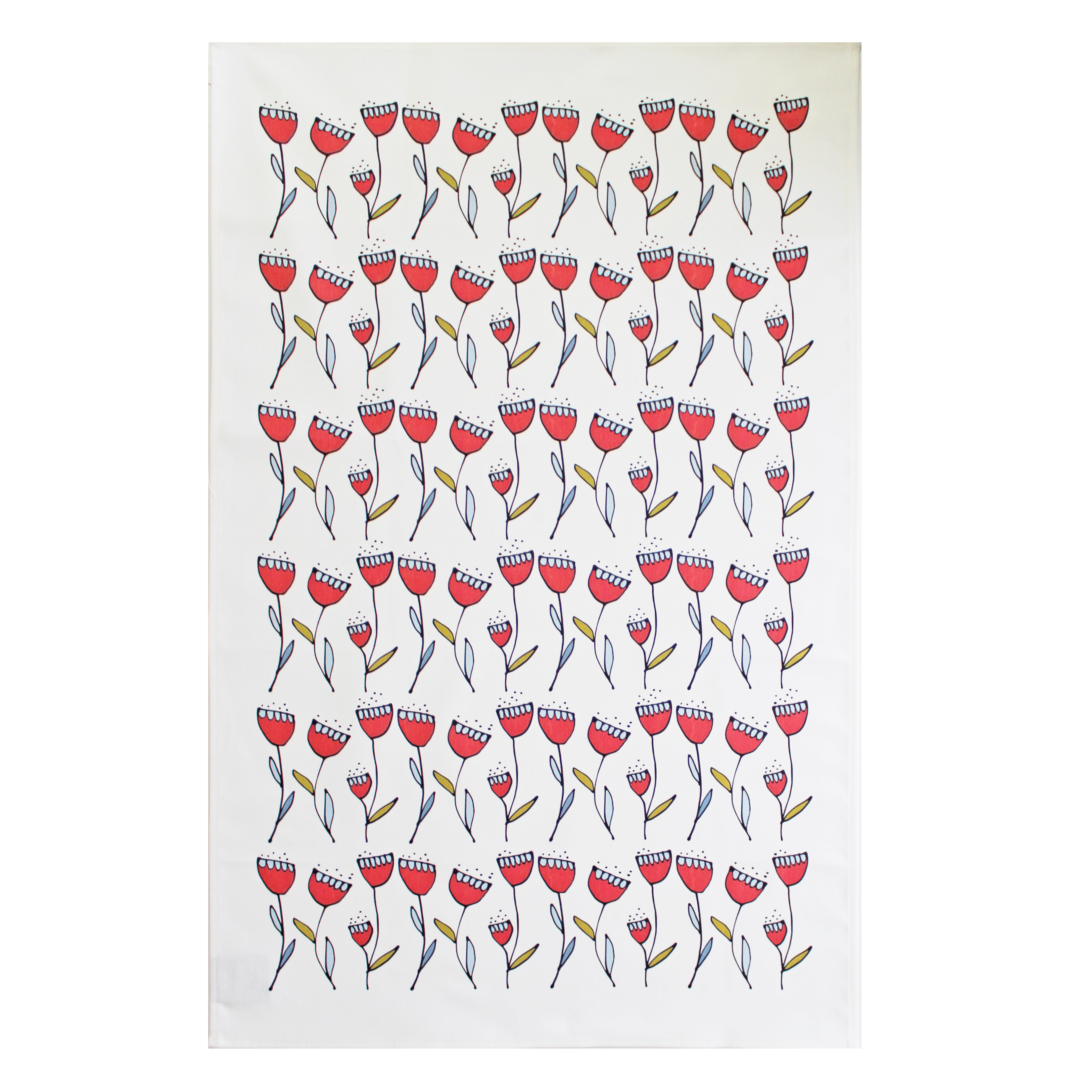 Gallery Thea Flora Tea Towel Single Flower Repeat Sparkle Gift