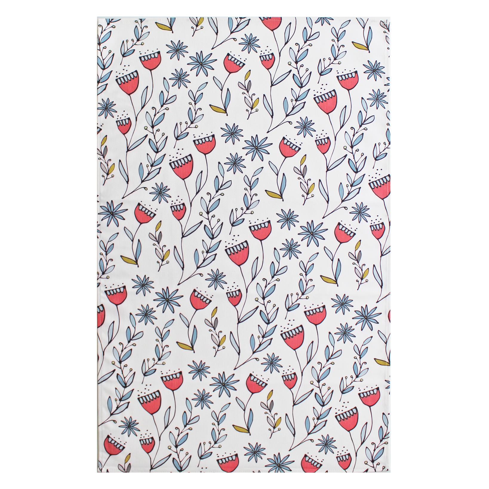 Gallery Thea Flora Tea Towel Pink Repeat Sparkle Gift