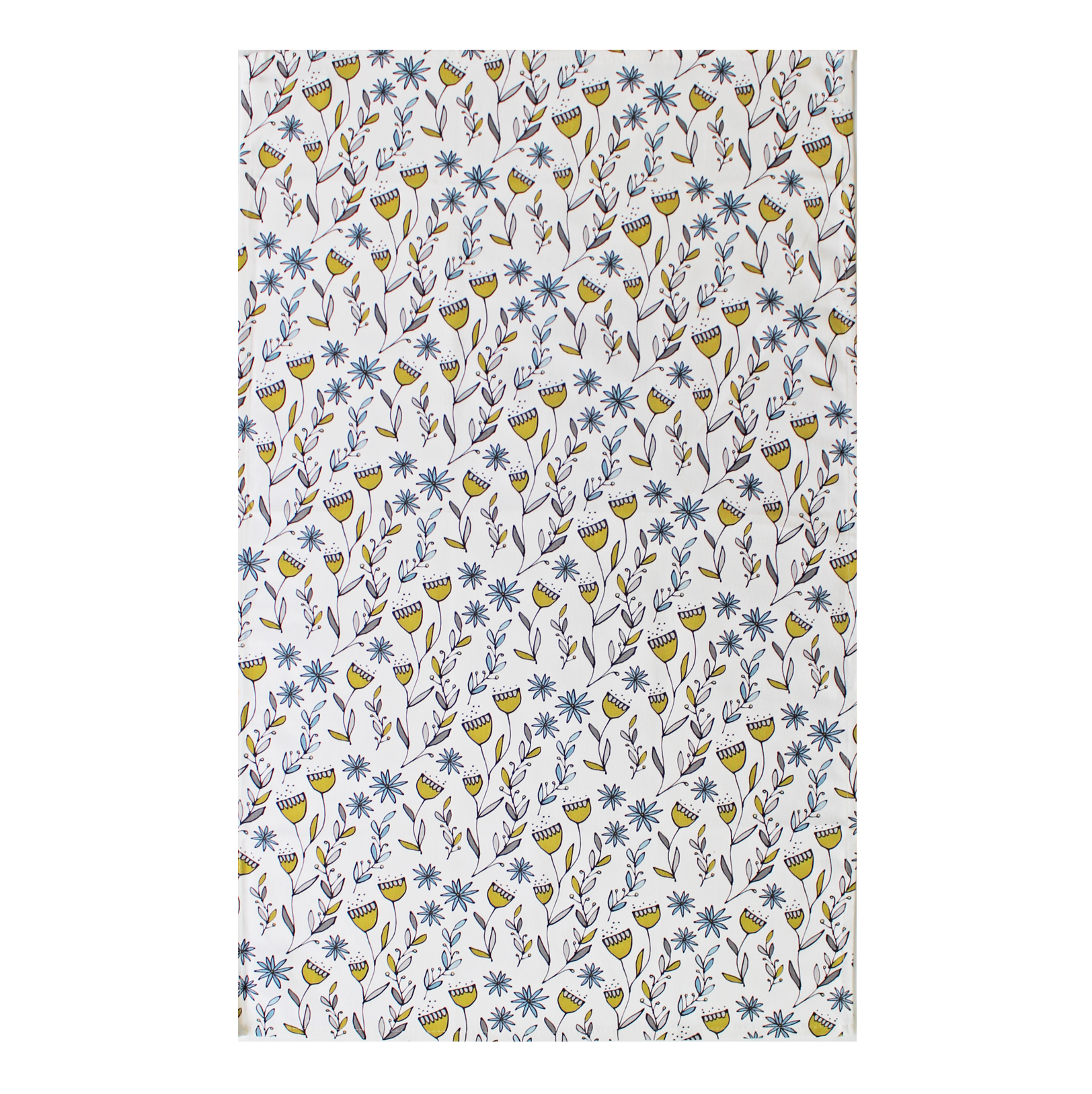 Gallery Thea Flora Tea Towel Green Repeat Small Sparkle Gift
