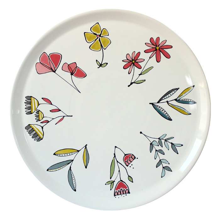 Gallery Thea Flora Large Plate 32cm Single Sparkle Gift