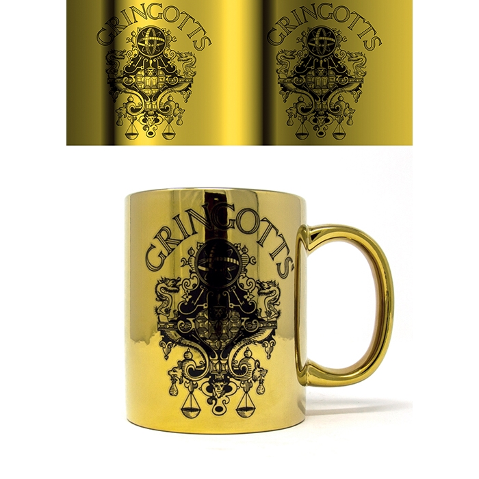 Harry Potter Metallic Mug Gringotts Sparkle Gift