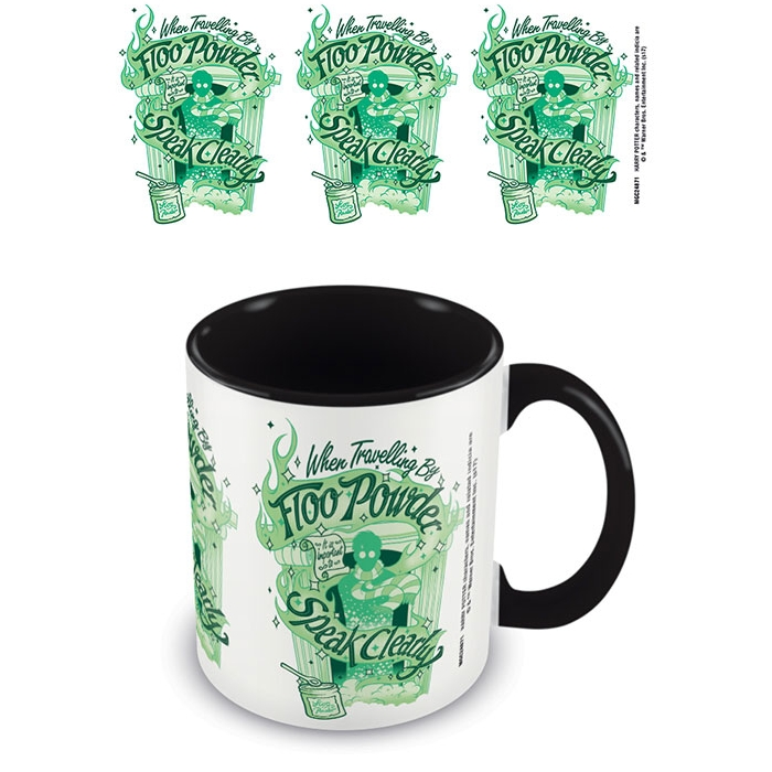 Harry Potter Boxed Mug Coloured Inner Floo Powder Sparkle Gift