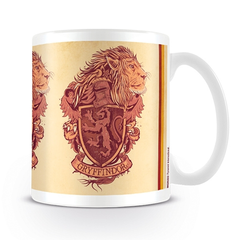 Harry Potter Boxed Mug Gryffindor Lion Crest Sparkle Gift